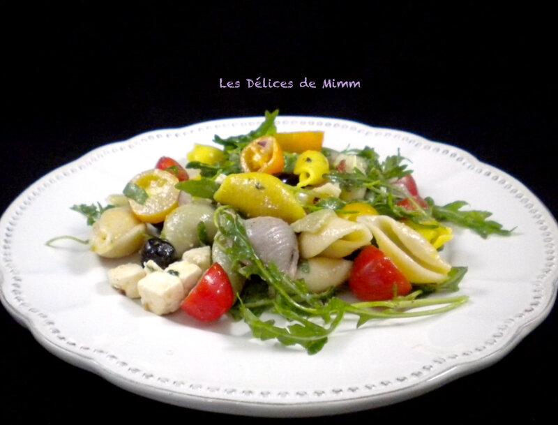 Salade de pâtes à la grecque 2
