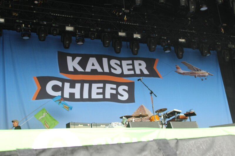 Glastonbury festival 2014 Other Stage Kaiser Chiefs map