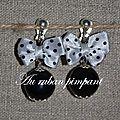 BO perle noire noeud satin blanc à pois noirs - 17 euros