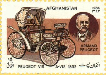 Timbre Afghanistan 1984 A Peugeot