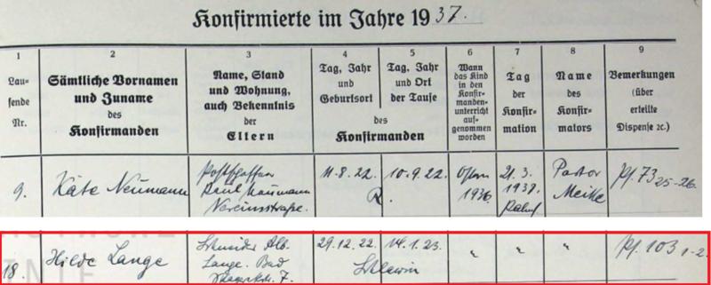 Konfirmation_Hilde_LANGE_1937_in_R_genwalde
