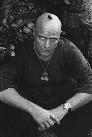 Marlon Brando on the set of Apocalypse Now Pagsanjan Philippines 1976