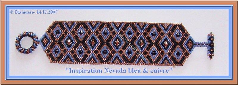 Inspiration Nevada bleu cuivre