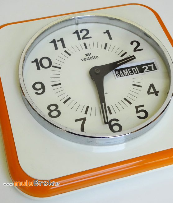HORLOGE-VEDETTE-DATEUR-Orange-Vintage-2-muluBrok-Brocante