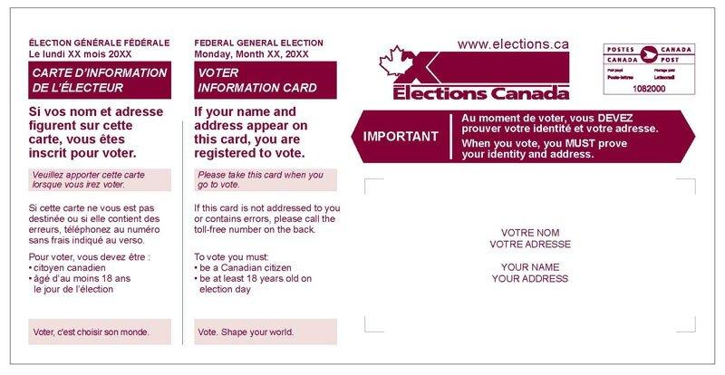 carte information électeur Canada
