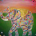 Au fil des créations: … un éléphant coloré