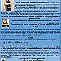 Resume : votre biographie ou livre de vie ! ! ! tarif a la page