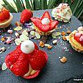 Mini tartelettes à la crème et aux fraises