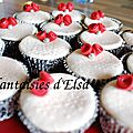 cup cake rose rouge