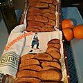 Spécialité Crétoise,biscuits à l'orange et à l'huile d'olive
