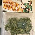 00386 soldats infanterie australienne marque inconnue copie airfix