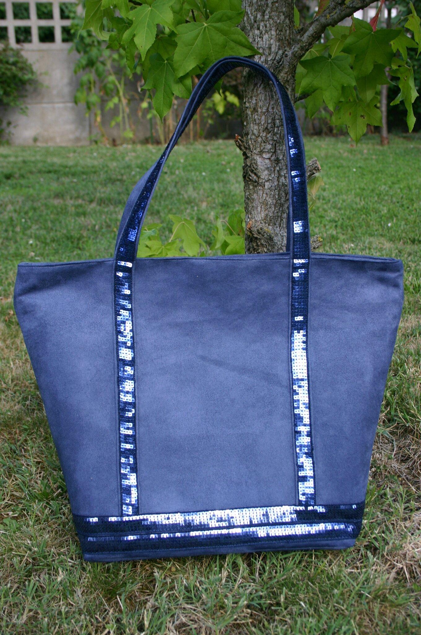 sac à paillettes bleu 033