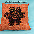 coussin Catherine orange 05
