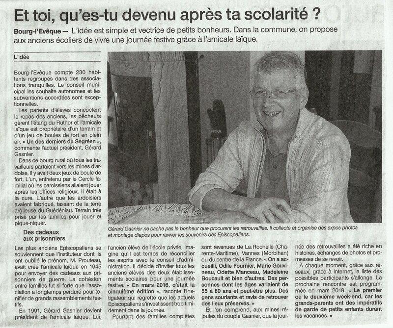 2016-04-10-de Gérard GASNIER-coupure presse OUEST-FRANCE