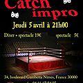 Catch-impro, jeudi 5 avril à 21h, au tr3nte qu4tre