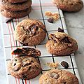 Cookies a la noisette et au chocolat noir