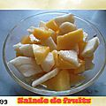 Salade de fruits pommes & mangues