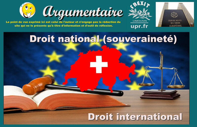 ARG SUISSE DROIT NATIONAL