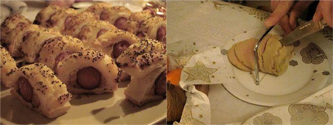 feuilleté-saucisse et foie gras