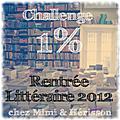 Challenge rentrée littéraire 2012, c'est fini !