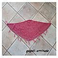 Châle fille rose au crochet