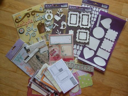 LOT CHIPBOARD ETIQUETTES RUB ON