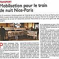 Mobilisation pour le train de nuit nice-paris