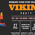 Rouen 27 septembre 2019: viking party à la taverne de thor