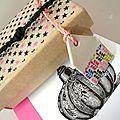 Matchbox boîte petites maisons d'argile étiquette gift tag washi tape