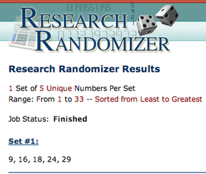 Randomizer gagnants
