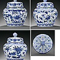 A magnificent ming blue and white 'boys' jar and cover, jiajing six-character mark and of the period (1522-1566)