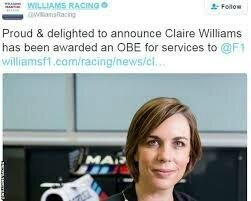 CLAIRE WILLIAMS TEAM BOSS 2018