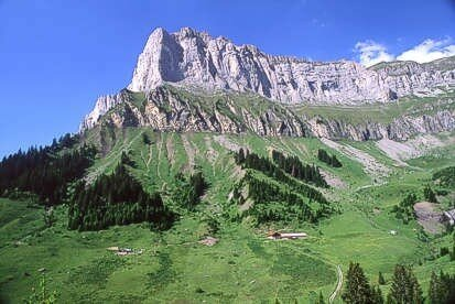 Montagnes depuis l'alpage