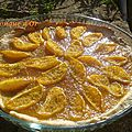 Tarte à l'orange sur confiture de mandarines