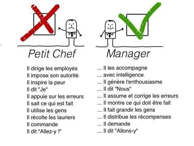 Petit chef ou manager