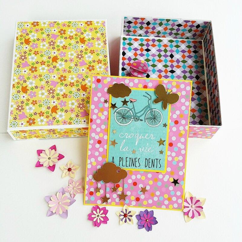 papier carte boite fleurs 1