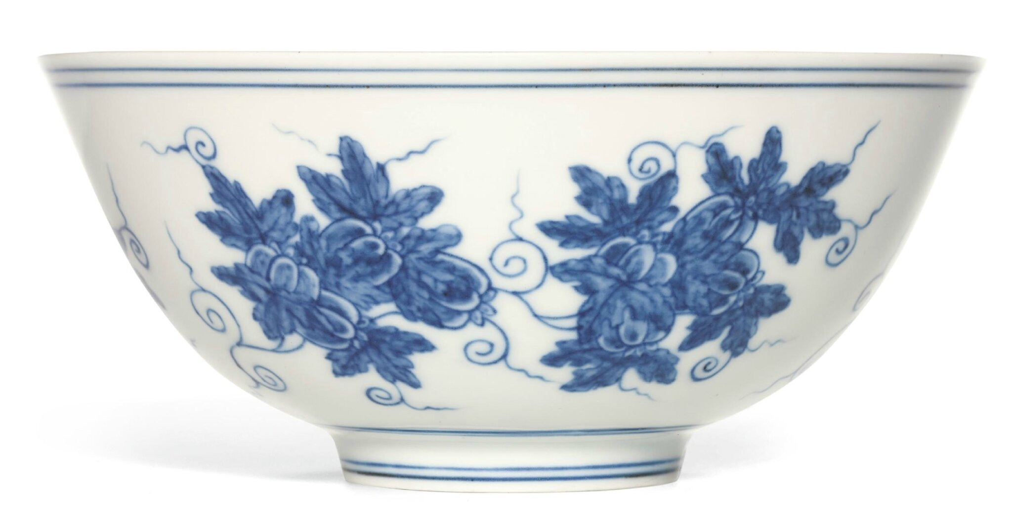 An important and rare blue and white 'Palace Bowl', Mark and period of Chenghua
