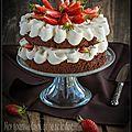 Layer cake chocolat-fraises.