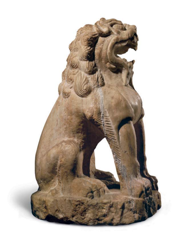 A large marble figure of a seated lion, China, Tang dynasty (AD 618-907)2