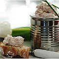 Des rillettes de thon pour un petit apéritif convivial....
