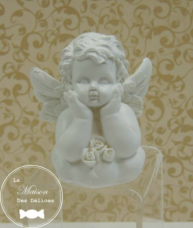 boîte dragées baptême mariage thème angelot gabriel cupidon2