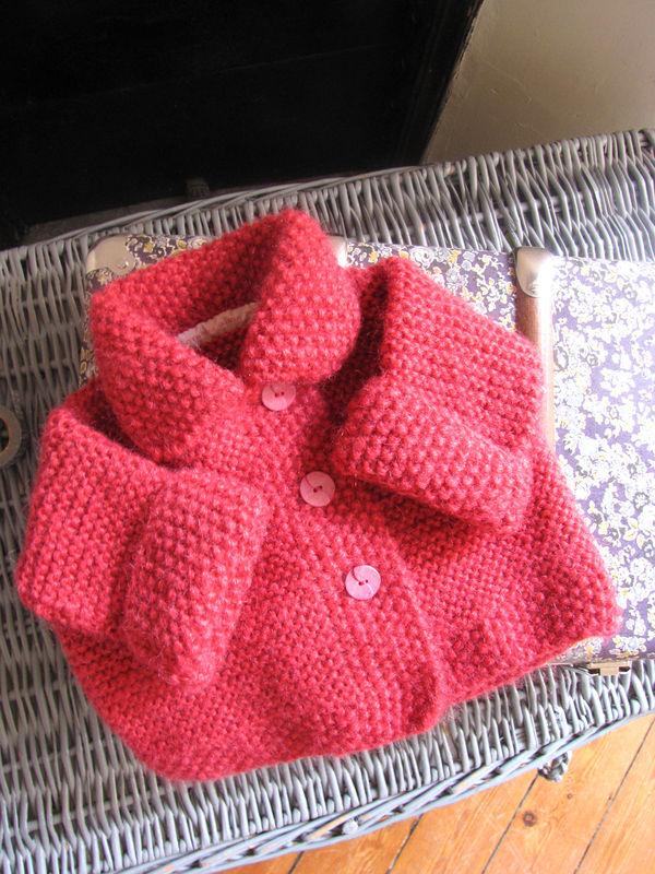 veste en laine double fil pour Lisa