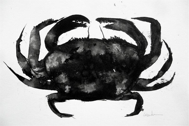 crabe encre