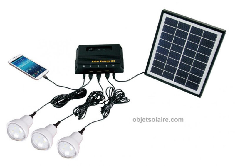 KIT SOLAIRE COMPLET ECLAIRAGE