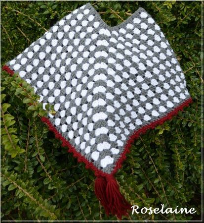 Roselaine58 Poncho gris