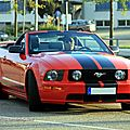 La ford mustang gt convertible (rencard du burger king septembre 2011)