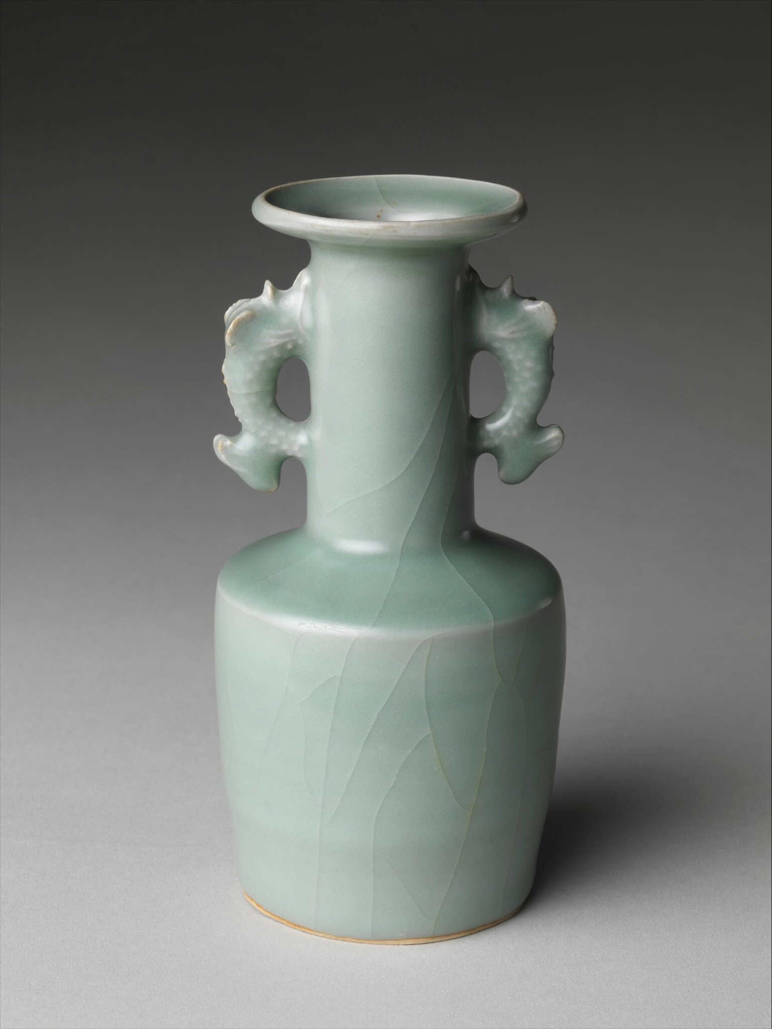 Vase with Dragonfish Handles, 12th–13th century, Southern Song dynasty (1127–1279)