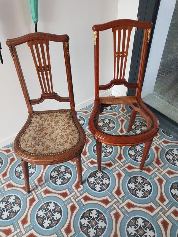 chaise empire ébénisterie