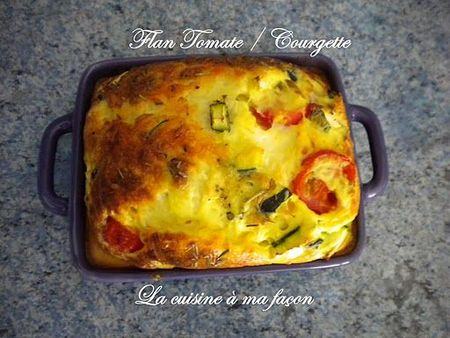 flan tomate courgette