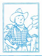 Tintin cow-boy